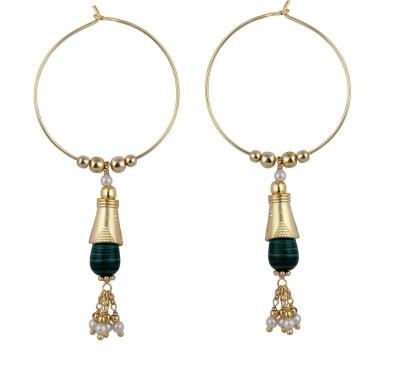 Pearlz Ocean Gorgeous Pearl Alloy Hoop Earring Pearlz Ocean Earrings