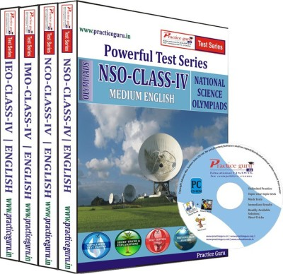 Practice Guru Class 4 - Combo Pack (IMO / NSO / IEO / NCO) Test Series(CD) at flipkart