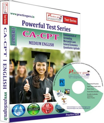 Practice Guru ca-cpt Test Series(CD)  available at flipkart for Rs.379