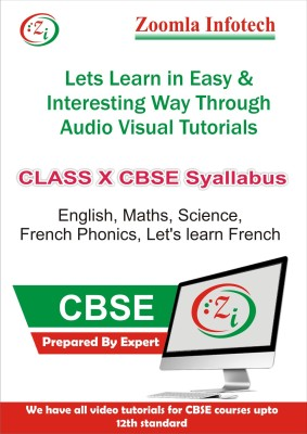 Zoomla Infotech Class 10 CBSE English, Maths, Science, French Phonics, Let's Learn French Video Tutorials(DVD)