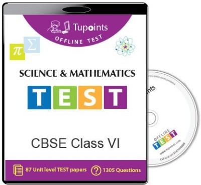 Tupoints Cbse Class 6 Science And Mathematics Offline Test(DVD)