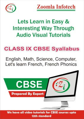 Zoomla Infotech Class 9 CBSE English, Maths, Science, Computer, French Phonics, Let's Learn French Video Tutorials(DVD)