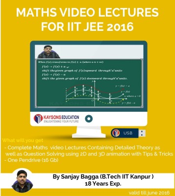 Kaysons Education IIT JEE Maths Preparation Material (2019) : Video Lectures for JEE Main and Advance Designed By IITian(pendrive)  available at flipkart for Rs.7000