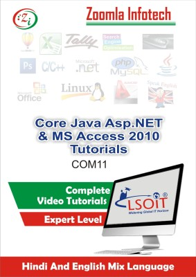 LSOIT Core Java Programming+Asp.NET Programming Language + MS Access 2010 Video Tutorials in hindi , Total 453 Lectures and Total Duration 52 Hours(DVD)