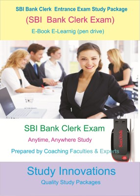 Study Innovations SBI Bank Clerk Exam Study Package(pendrive)  available at flipkart for Rs.1999