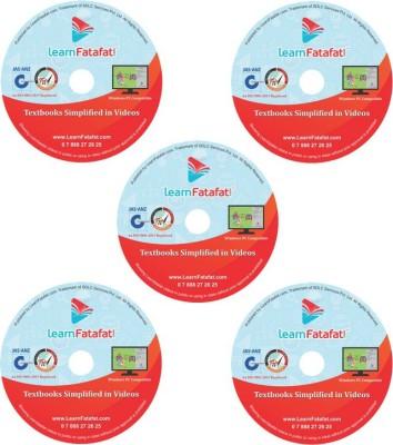LearnFatafat CBSE Board Class 10 Video Course Bulk Pack of 5 DVD's(DVD) at flipkart