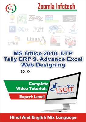 LSOIT MS Office 2010, Photo Designing , Tally9 ERP, Web Designing , Advance Excel Formulas Video Tutorials in hindi, Total 540 Lectures and Total Duration 57 Hours(DVD)