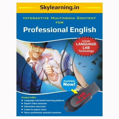 Skylearning.In Professional English (Pen Drive)(Professional English pendrive Combo Pack)  available at flipkart for Rs.1500