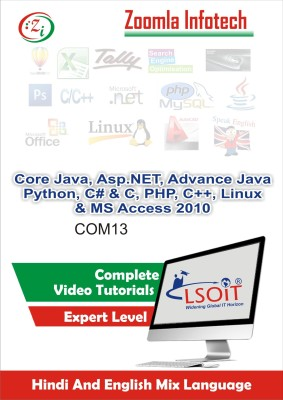 LSOIT Core Java+Asp.NET+JSP+Python+C #+CProgramming Pack+PHP+(C++ Programming)+Linux+MS Access 2010 Video tutorials in hindi , Total 1453 Lectures and Total Duration 149 Hours(DVD)