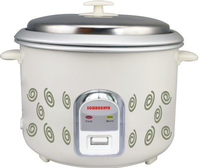 Sowbaghya Annam Plus Electric Rice Cooker(1.8 L, White) at flipkart