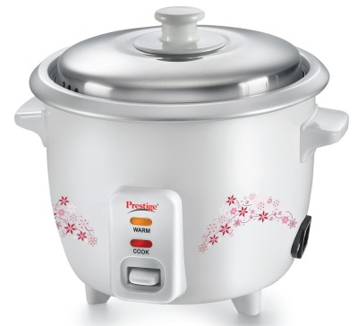 Prestige Delight PRWO Electric Rice Cooker with Steaming Feature(1.5 L, White)