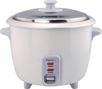 Pigeon Favourite Electric Rice Cooker with Steaming Feature(1 L, White)