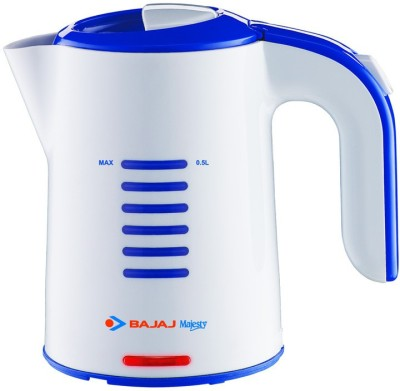 Bajaj majesty travel kettlektx1 Electric Kettle(0.5 L, White)  available at flipkart for Rs.1399