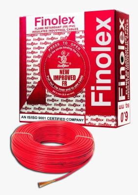 Finolex FR PVC, PVC 6 sq/mm Red 90 m Wire(Red)