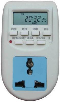 JDC AL06 Programmable Electronic Timer Switch  (White)