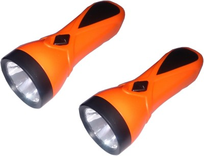 Tuscan Set of 2 Pcs Rechargeable LED Emergency Light(Orange)