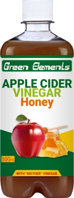 Green Elements Apple Cider Vinegar with Natural Honey, Mother Vinegar, Raw & Unfiltered Sports Drink(500 ml Pack of 1)