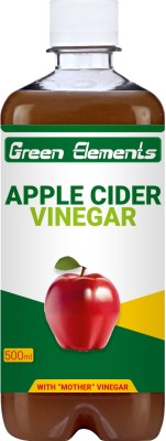 Green Elements - Apple Cider Vinegar with Mother Vinegar, Raw, Unfiltered, Sports Drink(500 ml Pack of 1)