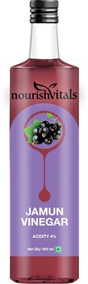 NourishVitals Jamun Vinegar - Raw, Unfiltered & Undiluted (Jamun Sirka) Sports Drink(500 ml Pack of 1)