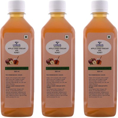 Lyrus Apple Cider Vinegar with Honey (Pack of 3) Sports Drink(500 ml Pack of 3)