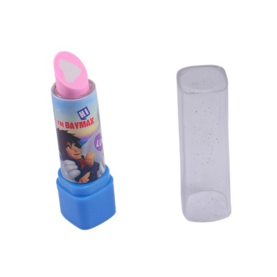 Saamarth Impex Standard Non-Toxic Lipstick Shaped Medium Eraser(Blue)