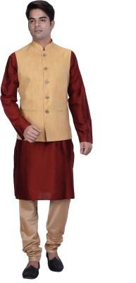 Kisah Men Kurta, Ethnic Jacket and Pyjama Set