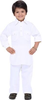 AJ Dezines Boys Festive & Party Pathani Suit Set(White Pack of 1)