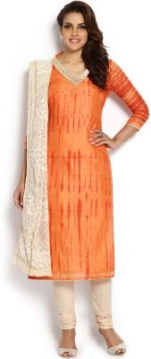 Soch Chanderi Embroidered Salwar Suit Dupatta Material(Un-stitched)