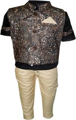 Kooka Boys Shirt, Waistcoat and Pant Set at flipkart
