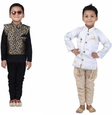 Crazeis Boys Kurta, Waistcoat and Pyjama Set at flipkart