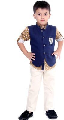 Bad Boys Boys Shirt, Waistcoat and Pant Set at flipkart