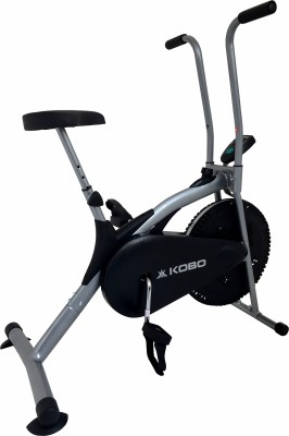 Kobo AIR BIKE DELUX WITH ELECTONIC METER Upright Stationary Exercise Bike(Black)
