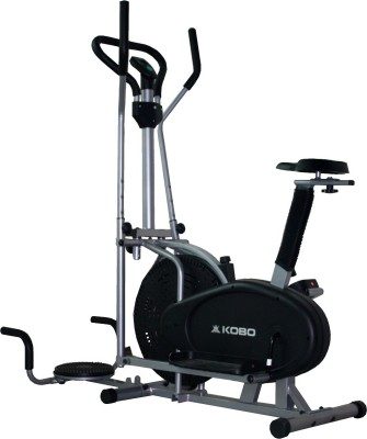 Kobo Multi Orbitrac Elliptical with Twister Upright Stationary Exercise Bike(Black) at flipkart