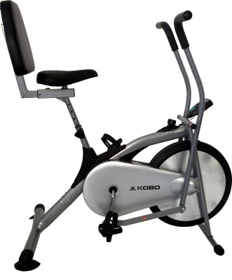 Kobo Air Delux Cycle With Back Rest Upright Stationary Exercise Bike(Silver)