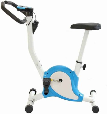 Kobo CYCLE AB CARE KING CARDIO FITNESS HOME GYM Upright Stationary Exercise Bike(White, Blue) at flipkart