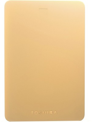 Toshiba Canvio Alumy 1 TB Wired External Hard Disk Drive(Gold)  available at flipkart for Rs.3399