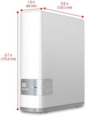 WD 4 TB Wired  External Hard Drive (White, External Power Required)