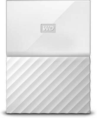 WD 1 TB Wired HDD  External Hard Drive (White, External Power Required)