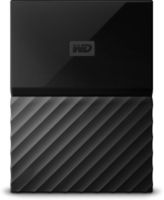 WD My Passport 1 TB Wired External Hard Disk Drive(Black) at flipkart