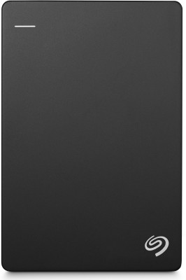 Seagate Plus Slim 1 TB Wired External Hard Disk Drive(Black, Mobile Backup Enabled)