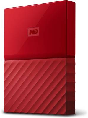 WD 2 TB Wired  External Hard Drive (Red)