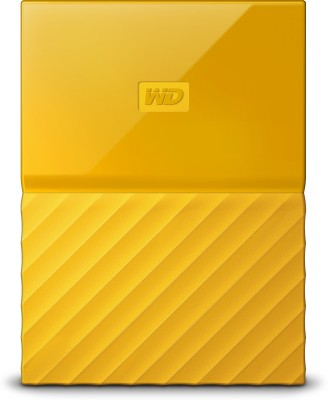 WD My Passport 1 TB Wired External Hard Disk Drive(Yellow) at flipkart