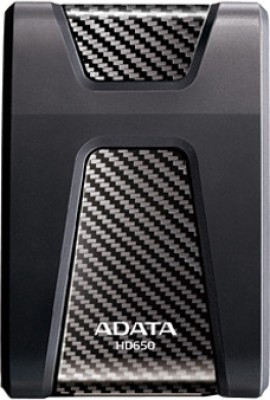 Adata HD650 1 TB External Hard Disk Drive(Black) at flipkart