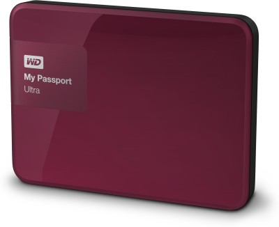 WD My Passport Ultra 1 TB Wired External Hard Disk Drive(Berry)