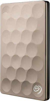 Seagate Backup Plus Ultra Slim Drive 1 TB External Hard Disk Drive(Gold)  available at flipkart for Rs.8870