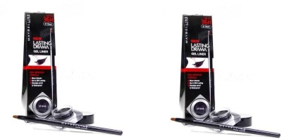 Maybelline Lasting Drama Gel Eye Liner Pack Of 2 5 g(Black)