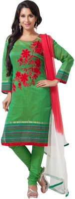 Aapno Rajasthan Cotton Floral Print Semi-stitched Salwar Suit Dupatta Material  available at flipkart for Rs.3599