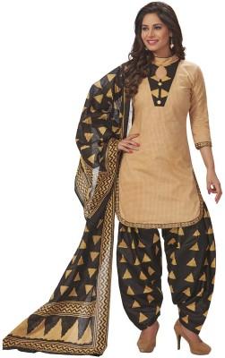 Jevi Prints Cotton Blend Solid Salwar Suit Material(Unstitched)