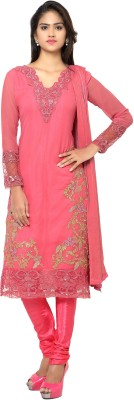 MF Retail Poly Georgette Embroidered Salwar Suit Material(Unstitched) at flipkart