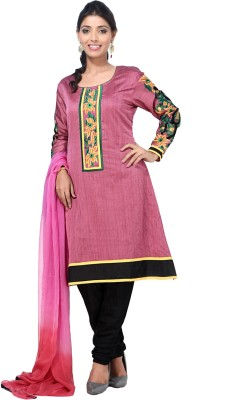 Aapno Rajasthan Cotton Printed Semi-stitched Salwar Suit Dupatta Material  available at flipkart for Rs.3599